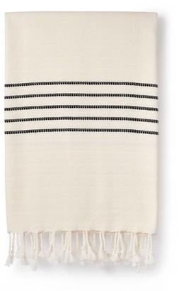 Luks Linen Idil Cotton & Bamboo Peshtemal Black & Salt