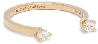 Delfina Delettrez 18kt yellow gold diamond Dots ring