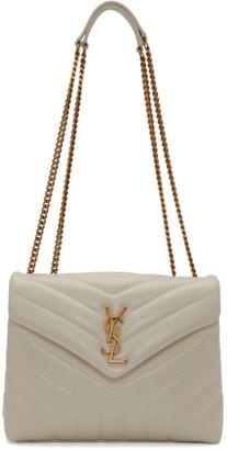 Saint Laurent White Small Loulou Bag