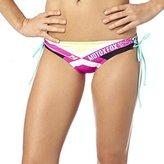 Fox Racing Divizion Lace Up Side Tie Womens Bikini Bottoms Fuschia