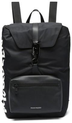 Alexander McQueen Urban Medium Carabiner-buckle Technical Backpack - Black White