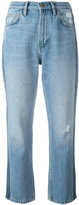 MiH Jeans striped sides cropped jeans - women - Cotton - 24