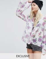 Reclaimed Vintage Smock Top In Floral Chiffon