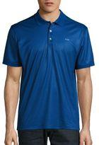 Calvin Klein Printed Jersey Polo Shirt