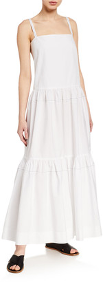 Rosetta Getty Cotton Tiered Ruffle Maxi Dress