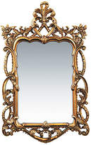 "One Kings Lane Floral 48""x29"" Scroll Mirror - Gold"