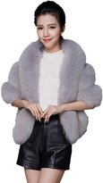 Yxjdress Women' Winter Warm Faux Fur Shawl Wrap Stole Cape Jacket for Bride