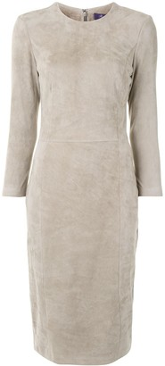 Ralph Lauren Collection Suede Panel Dress