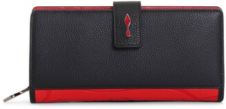 Christian Louboutin Paloma black and red wallet