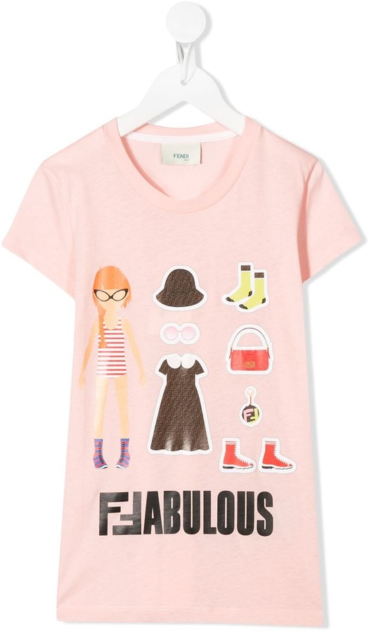Fendi Kids Fabulous print T-shirt