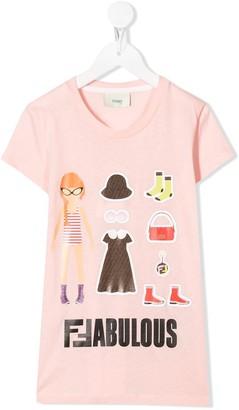 Fendi Fabulous print T-shirt