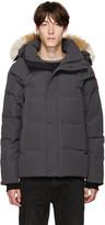 Canada Goose Grey Down and Fur Jacket