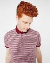 RUNAPP Spot print polo shirt