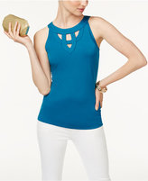 INC International Concepts Cutout Tank Top, Created for Macy's