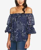 1 STATE 1.STATE Printed Off-The-Shoulder Top