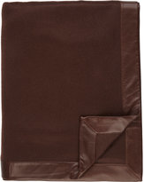 Barneys New York Leather-Border Cashmere Throw