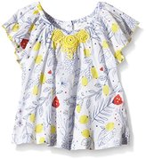 Pumpkin Patch Baby-Girls Rose Print Top Floral Short Sleeve T-Shirt,(Manufacturer Size:0-3M)