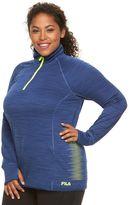 Plus Size FILA SPORT® Reflective Dot Quarter-Zip Running Jacket