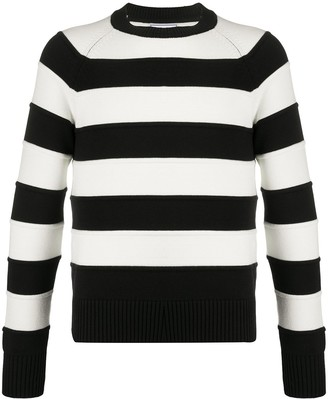 Ami Striped Cotton-Blend Sweater