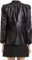 Helmut Lang Fitted Leather Blazer Jacket
