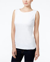 Karen Scott Petite Boat-Neck Tank Top, Only at Macy's