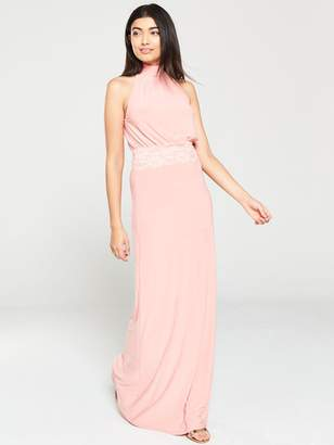 Very Lace Trim Occasion Maxi Dress - Blush