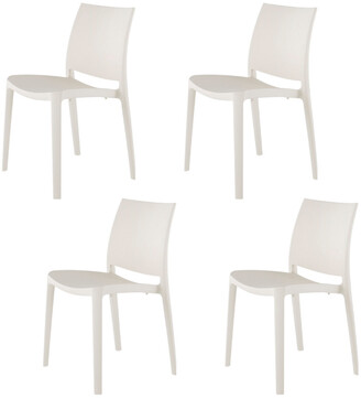 Set Of 4 Lagoon Sensilla Stackable Dining Chairs