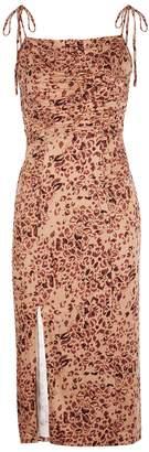 Free People Show Stopper Leopard-print Midi Dress