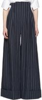 Jacquemus Navy 'Le Pantalon Arlesien' Trousers