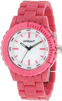 Sprout Men's ST/6500MPDP Dark Pink Resin Bracelet Luminous Watch
