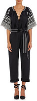 Ulla Johnson Women's Embroidered Alexi Belted Jumpsuit-BLACK