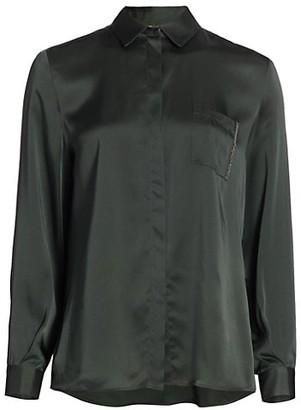 Fabiana Filippi Satin Brilliant Pocket Shirt