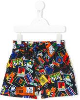 Kenzo patch print swim shorts - kids - Polyester - 6 yrs