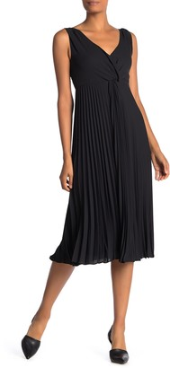 Vince Twist Front Pleated Midi Dress