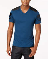 INC International Concepts Men's Faux-Leather Pieced T-Shirt, Created for Macy's