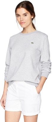 Lacoste Women's Sport Long Sleeve Fleece Crewneck Sweatshirt