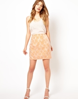 Jovonna Lace Skirt With Overlay
