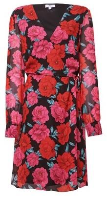 Dorothy Perkins Womens Tall Pink Floral Print Wrap Dress, Pink