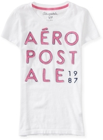 Aeropostale Appliqué Stack Graphic T