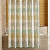 Crate & Barrel Sheesha Leaf Shower Curtain