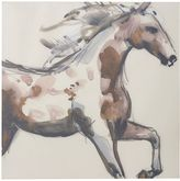 Pottery Barn Painted Horse Canvas