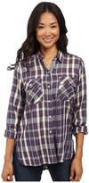 Roxy Sunday Funday Plaid Button Up Top