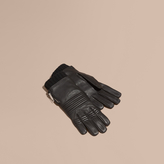 Burberry Biker Style Leather Gloves