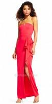 Adrianna Papell Asymmetrical Cascading Ruffle Strapless Evening Dress