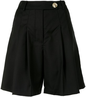 ANNA QUAN Oscar pleated shorts