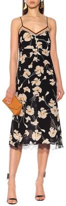 N°21 Floral silk slip dress