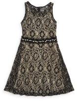 Un Deux Trois Girl's Floral Lace Party Dress