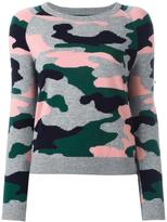 Chinti and Parker camouflage intarsia jumper