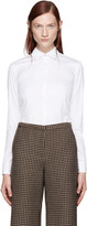 Rosetta Getty White Cropped Shirt