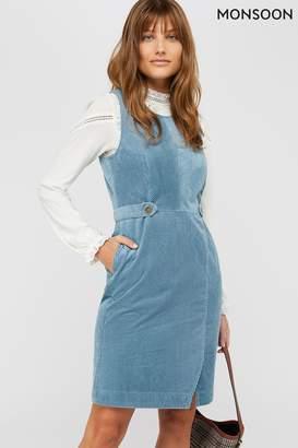 Monsoon Womens Blue Calla Cord Dress - Blue